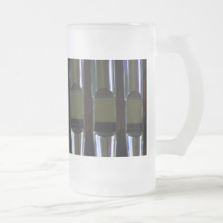 Organ Pipes Detail Frosted Glass Beer Mug