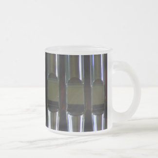 Organ Pipes Detail 10 Oz Frosted Glass Coffee Mug