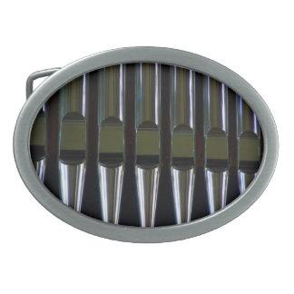 Organ Pipes Detail Oval Belt Buckle