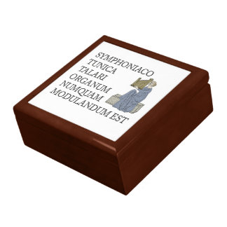 Organ pipes gift box - Latin saying