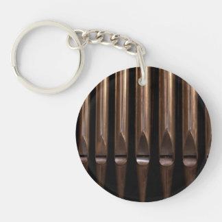 Organ pipes keychain