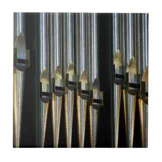 Organ pipes - plain metal pipes tile