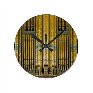 Organ pipes round clock