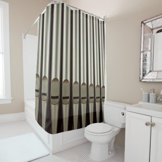 Organ pipes shower curtain