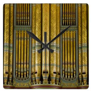 Organ pipes square clock