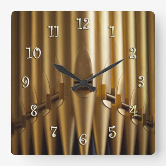 Organ pipes square clock