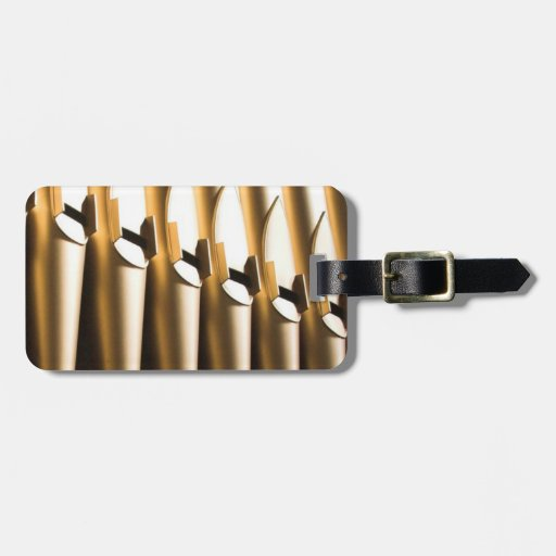 Organ pipes tag for luggage