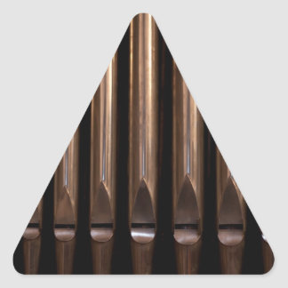 Organ pipes triangle sticker