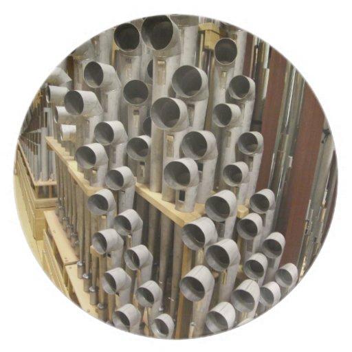 Organ plate -  pipes