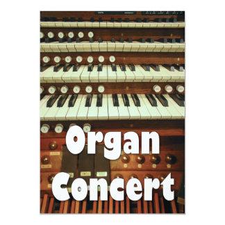 Organ recital invitation