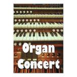 "Organ recital invitation 5"" x 7"" invitation card"