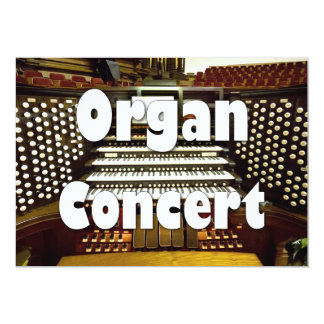 Organ recital invitation - organ console