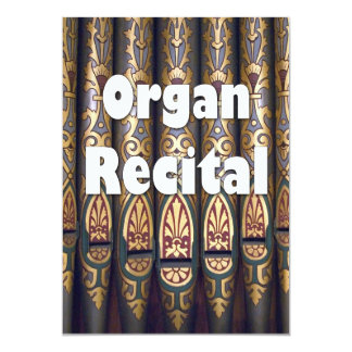 Organ recital invitation - pipes