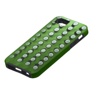 Organ stops on green iPhone 5 cover