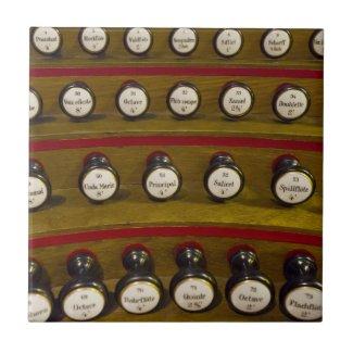 Organ stops tile or trivet