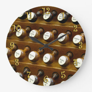 Organ stops wall clock
