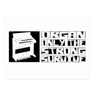Organ Survive Postcard