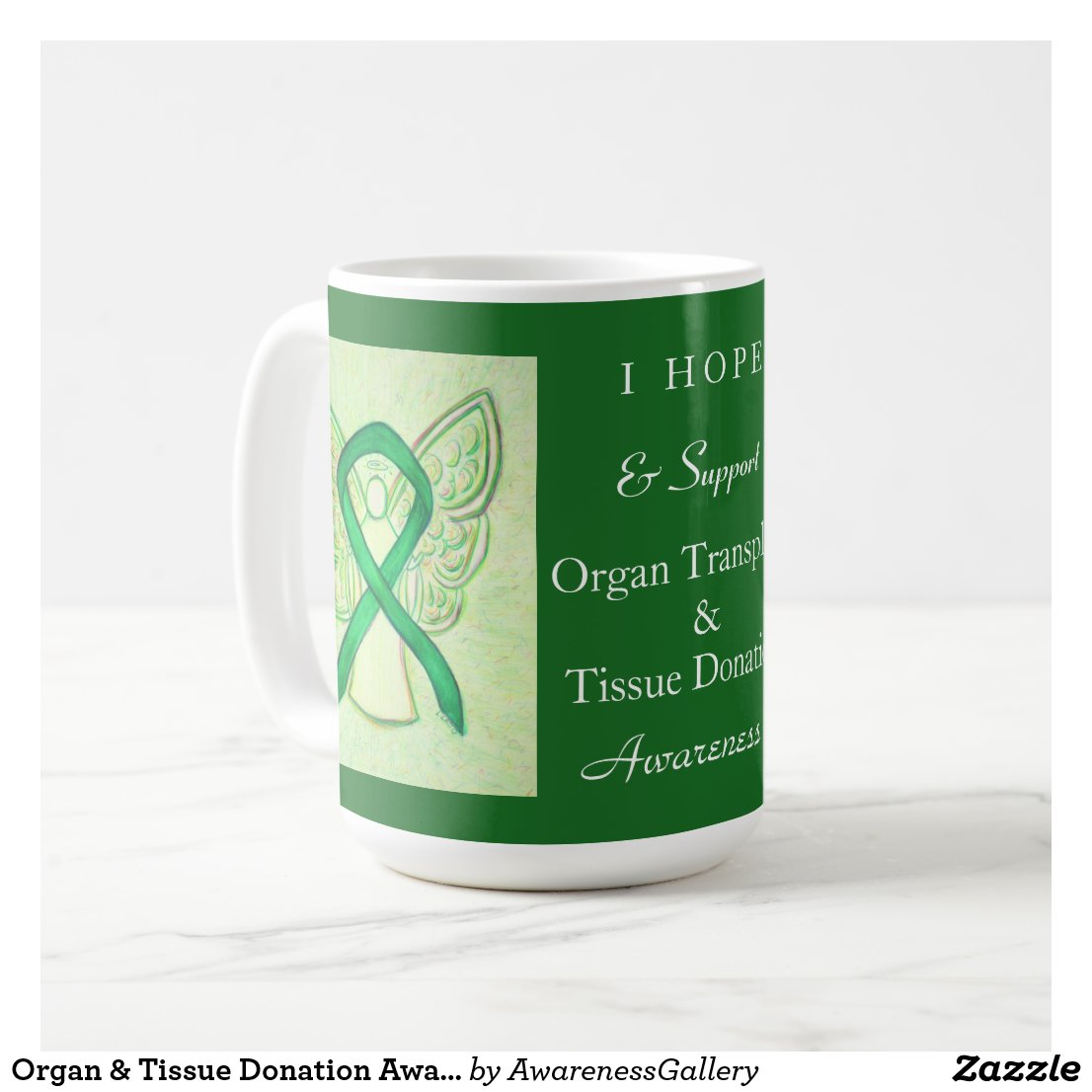 Organ & Tissue Donation Awareness Ribbon Mugs
