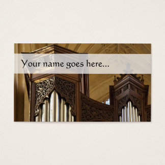 Organ towers business card
