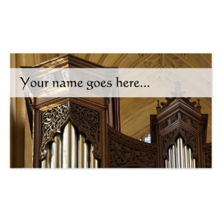 Organ towers business card