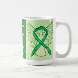 Organ Transplant Awareness Ribbon Angel Custom Mug