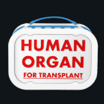"""Organ Transplant Nurse Lunch Box<br><div class=""""desc"""">Funny Organ Transplant Nurse Lunch Box,  designed to resemble organ transplant coolers used to transport donated organs.</div>"""