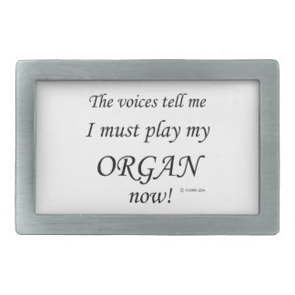 Organ Voices Say Must Play Belt Buckles