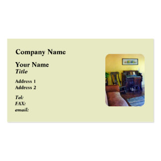 Organ With Hurricane Lamp Double-Sided Standard Business Cards (Pack Of 100)