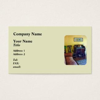Organ With Hurricane Lamp Business Card