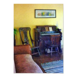 Organ With Hurricane Lamp Card