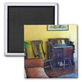 Organ With Hurricane Lamp 2 Inch Square Magnet