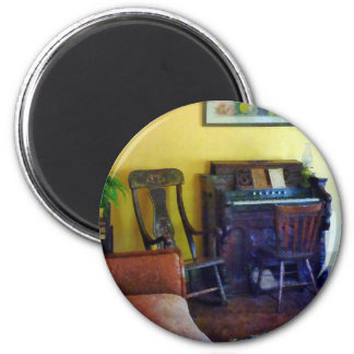 Organ With Hurricane Lamp 2 Inch Round Magnet