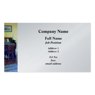 Organ With Hurricane Lamp - Platinum Finish Double-Sided Standard Business Cards (Pack Of 100)