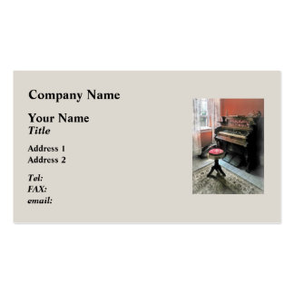 Organ With Petit Point Stool Double-Sided Standard Business Cards (Pack Of 100)