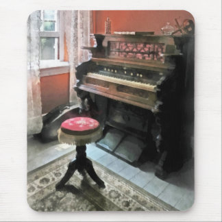 Organ With Petit Point Stool Mouse Pad