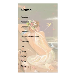 Organdy Wings Fairy! Double-Sided Standard Business Cards (Pack Of 100)