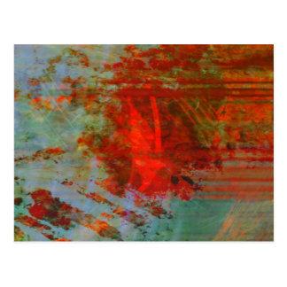 Organic abstrac #1472 postcard