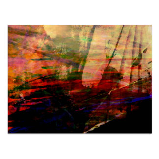 Organic abstract #1461 postcard