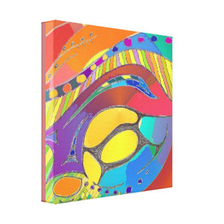 Organic Abstract Art Canvas mid depth