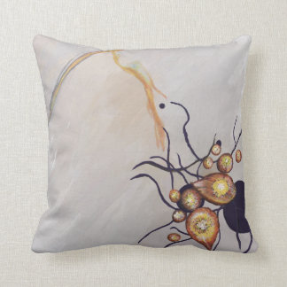 Organic Abstraction Throw Pillow