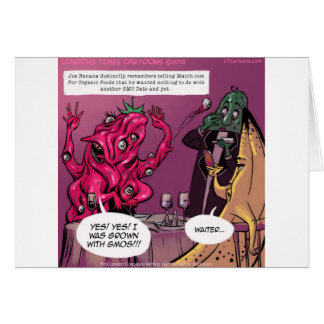 Organic And GMO Date Funny Cards