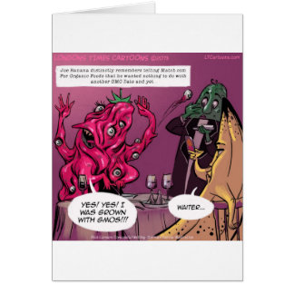 Organic And GMO Date Funny Greeting Card