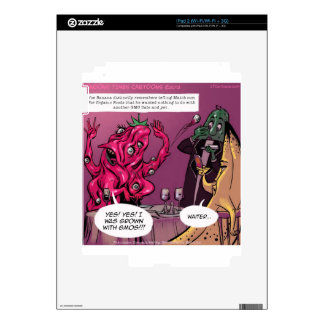 Organic And GMO Date Funny Decal For The iPad 2