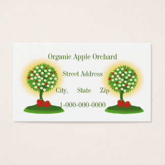 Organic Apple Orchard Business Card
