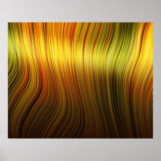 Organic Art Molten Plastic Soft Strands Yellow Print
