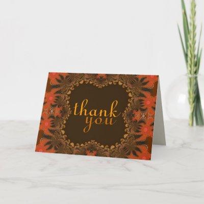 Organic Art Thank You Gracias Merci Danke Card zazzle_card