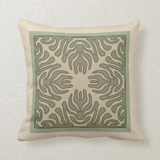 Organic Arts & Crafts Outlined Design Variation 1 Throw Pillow