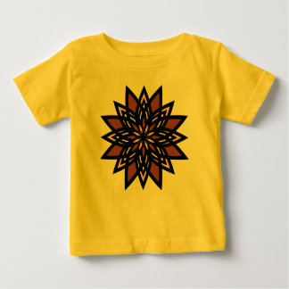 Organic Baby Outfit, Star Flower, Tan Yellow Gold T-shirts