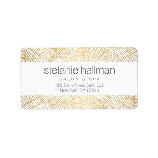 Organic Beauty Gold Tree Rings Pattern Label