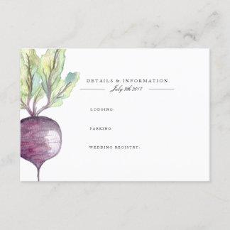 Organic Beet | Watercolor Information Card